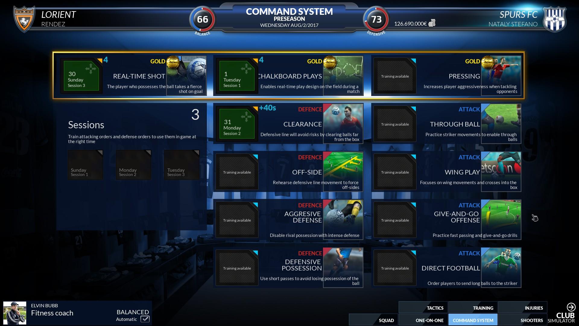 Football Club Simulator 18 Screenshot 1