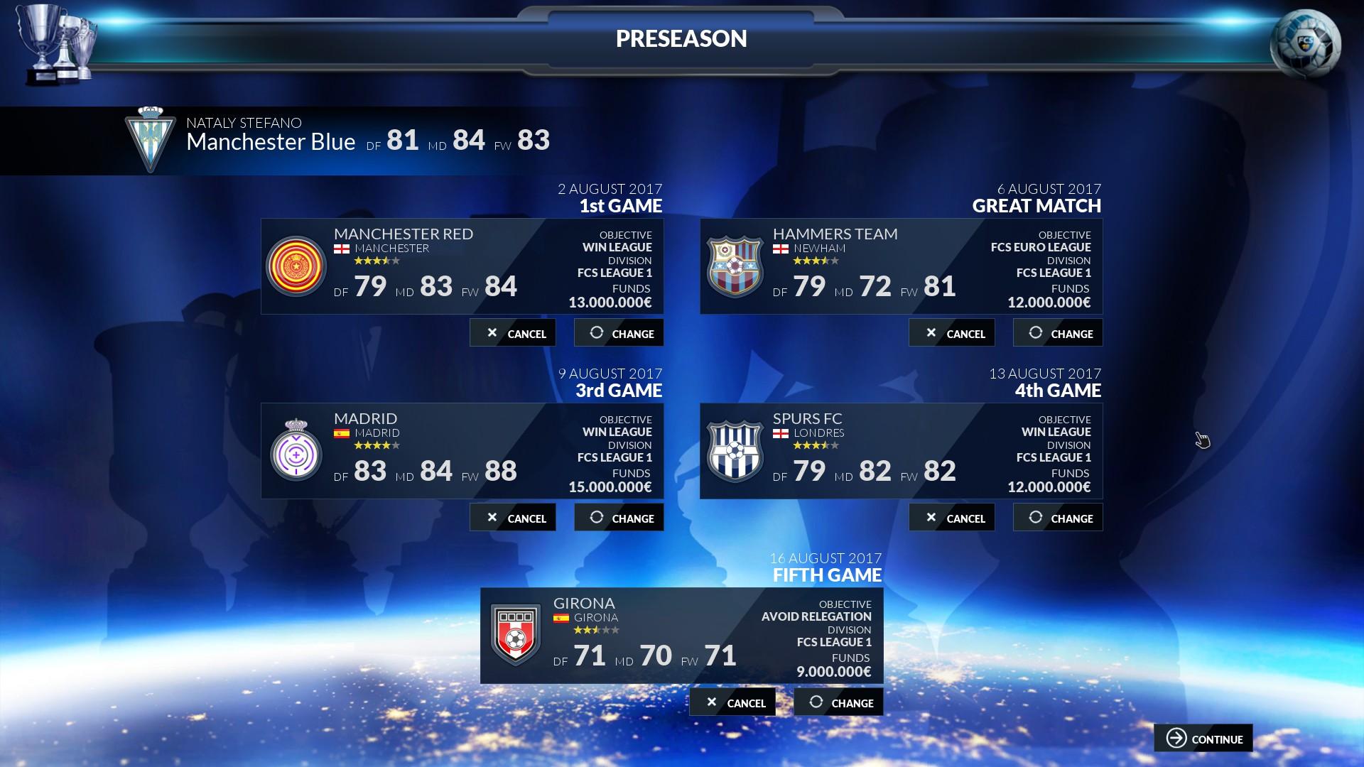 Football Club Simulator 18 Screenshot 2