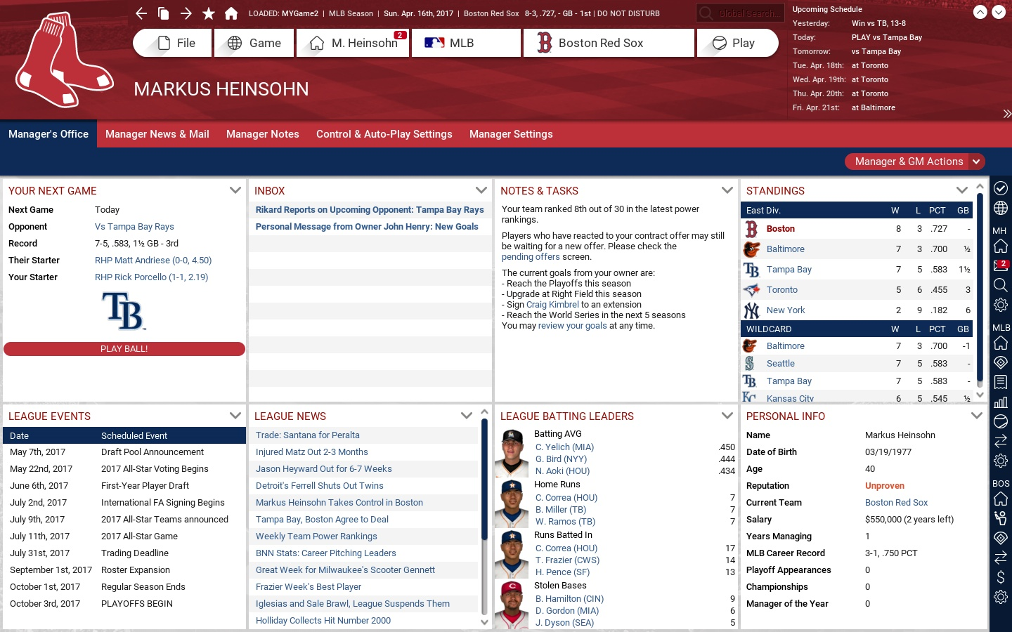 Out of the Park Baseball 18 Screenshot 2