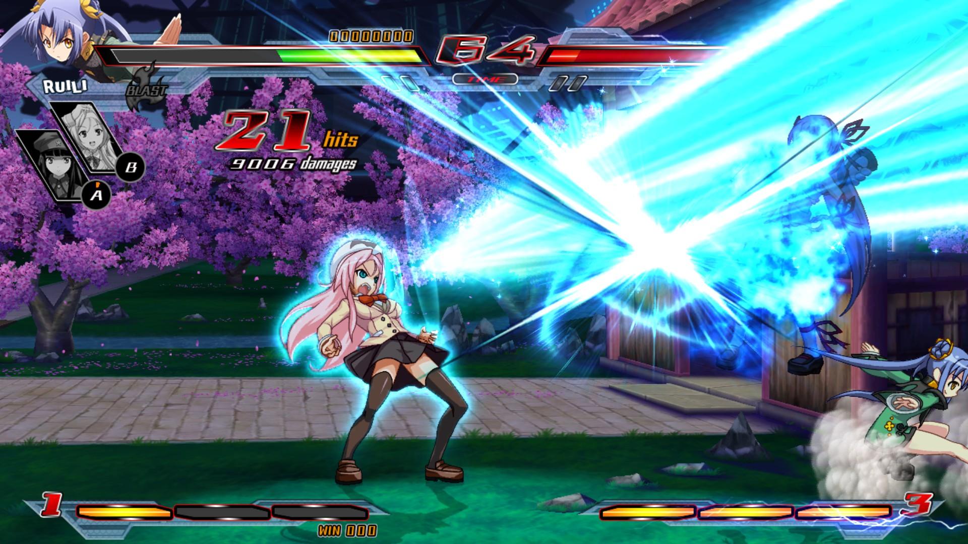 Nitroplus Blasterz: Heroines Infinite Duel Screenshot 1