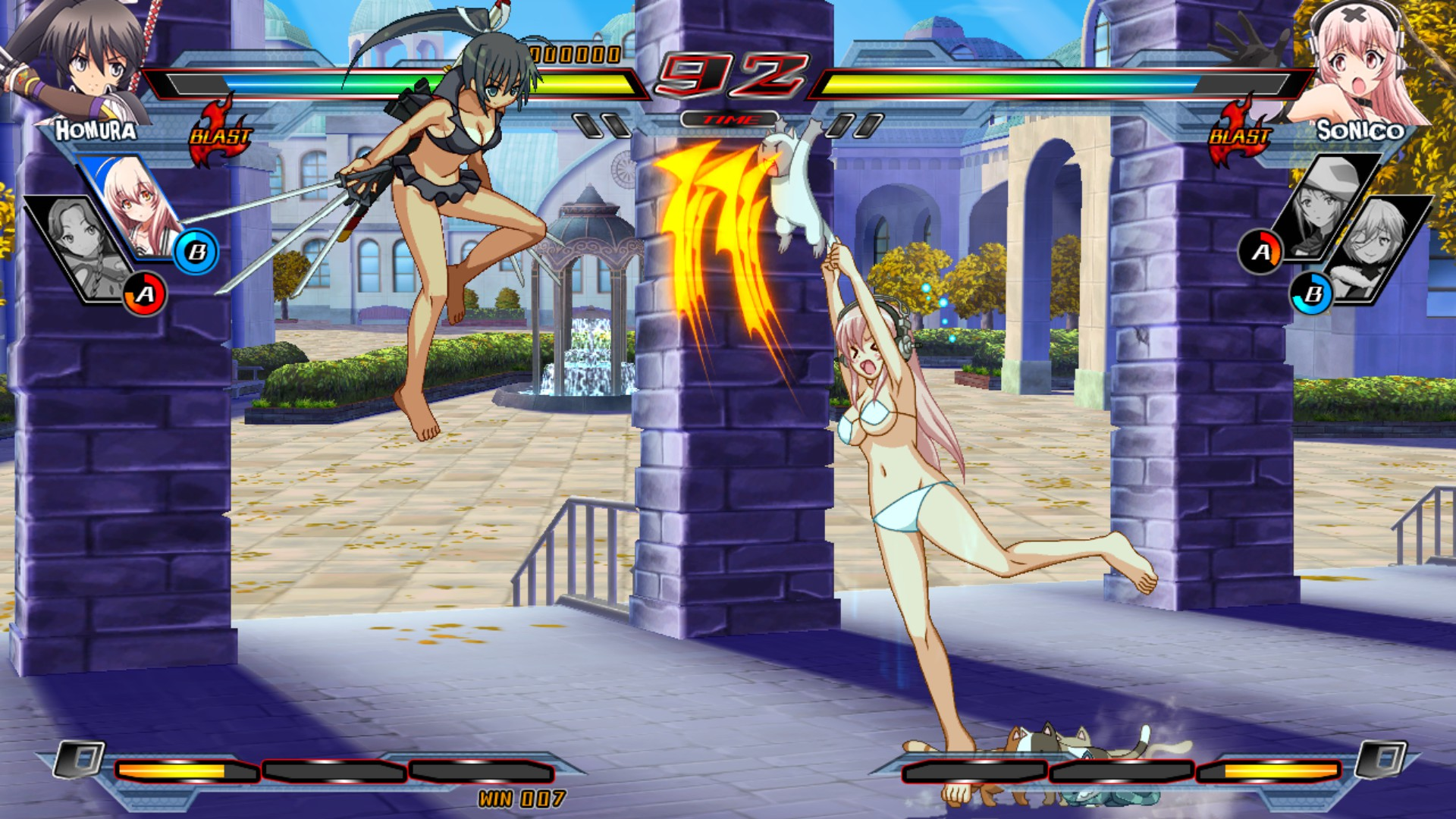 Nitroplus Blasterz: Heroines Infinite Duel Screenshot 3