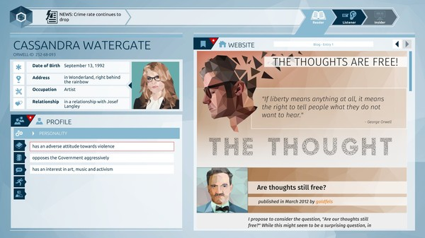 Download Orwell: Keeping an Eye On You Torrent