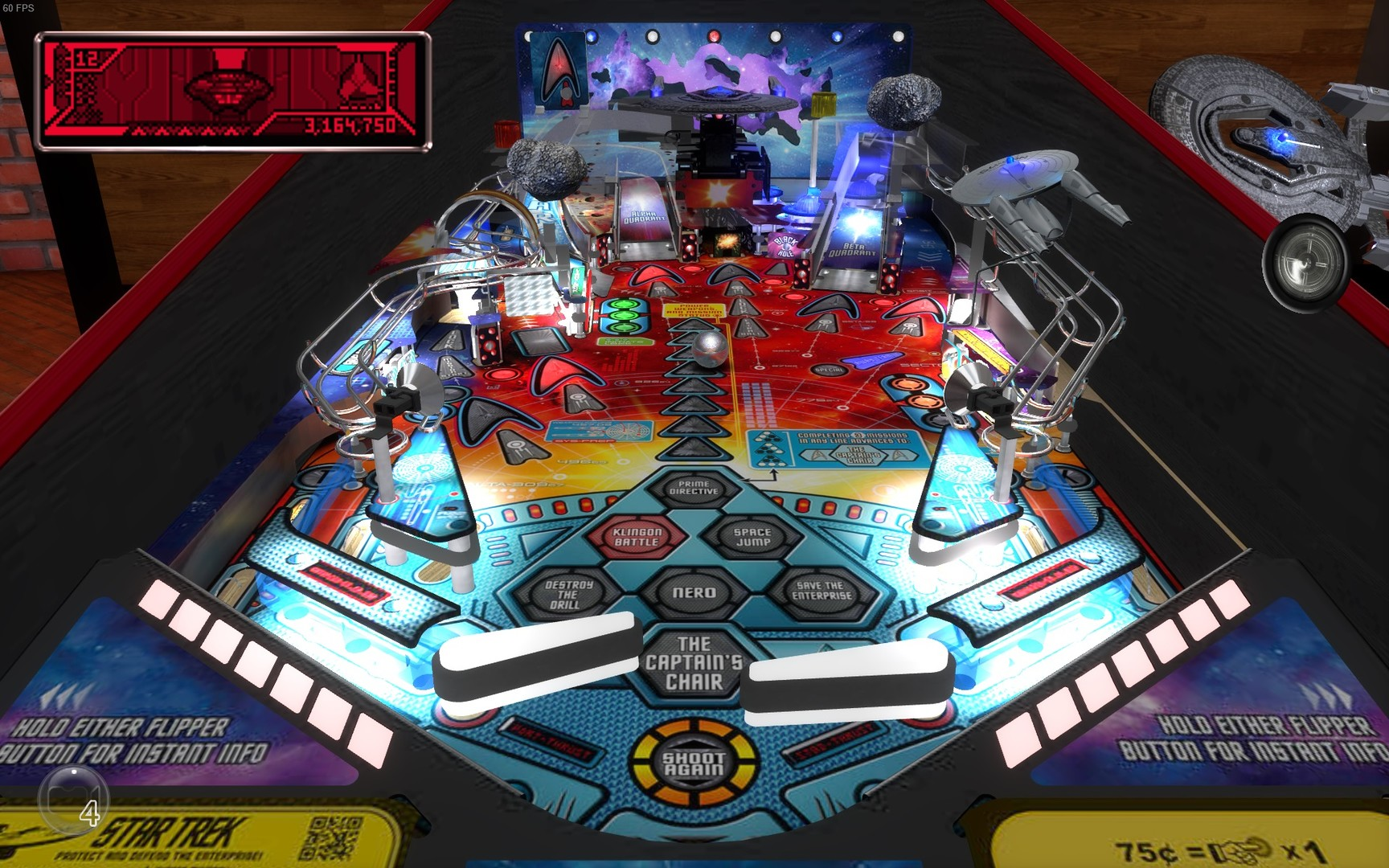 Stern Pinball Arcade: Star Trek Screenshot 1