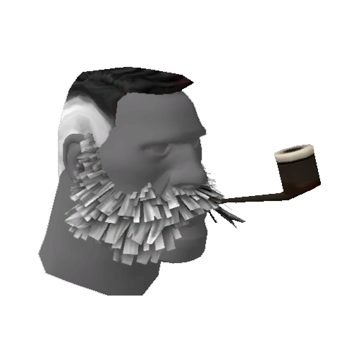 Strange Lord Cockswain's Novelty Mutton Chops and Pipe