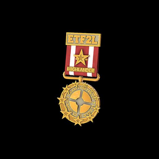 ETF2L Highlander Low Playoff Medal