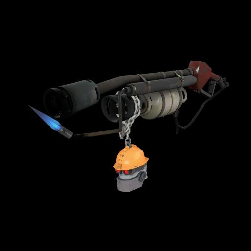 Strange Silver Botkiller Flame Thrower Mk.II