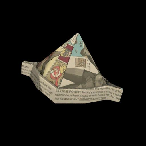 Manniversary Paper Hat