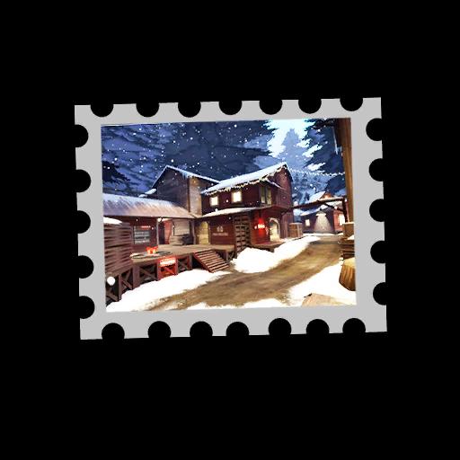 Map Stamp - Snowfall