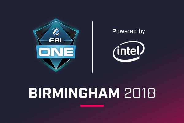 Icon for ESL One Birmingham 2018 powered by Intel