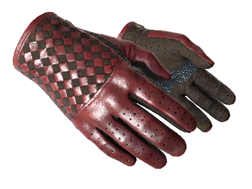 Driver Gloves Crimson Weave