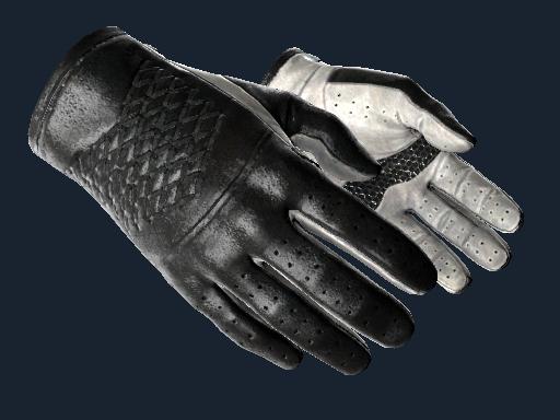 Driver Gloves Black Tie