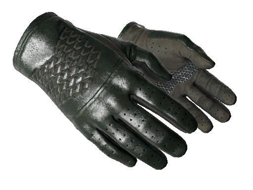 Driver Gloves Racing Green