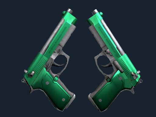 Dual Berettas Emerald