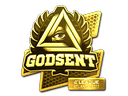 Sticker | GODSENT (Gold) | Atlanta 2017