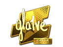 Sticker | gla1ve (Gold) | Atlanta 2017