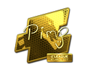 Sticker | Pimp (Gold) | Atlanta 2017