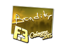 Sticker | bondik (Gold) | Cologne 2015