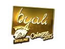 Sticker | byali (Gold) | Cologne 2015