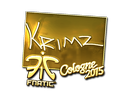 KRIMZ (Gold) | Cologne 2015