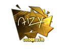 Sticker | aizy (Gold) | Cologne 2016