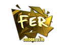 Sticker | fer (Gold) | Cologne 2016