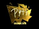 Sticker | pyth (Gold) | Cologne 2016