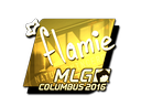 Sticker | flamie (Gold) | MLG Columbus 2016