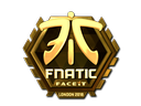 Sticker | Fnatic (Gold) | London 2018