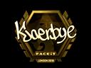 Kjaerbye (Gold) | London 2018