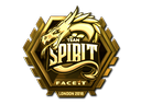 Sticker | Team Spirit (Gold) | London 2018