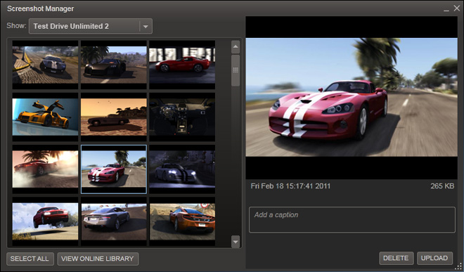 News - Steam Screenshots Feature Now Available