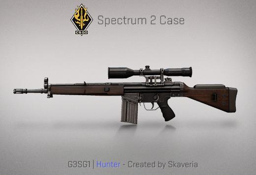 """Сандък """"Спектър 2"""" — G3SG1   Ловец   Hunter — Създадено от Skaveria"""