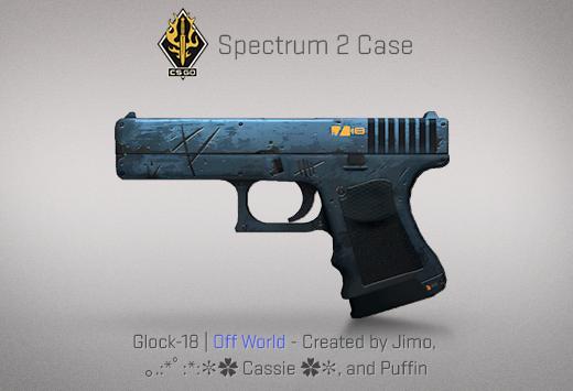 """Сандък """"Спектър 2"""" — Glock-18   Отвъдно   Off World — Създадено от Jimo, 。.:*゚:*:✼✿ Cassie ✿✼ и Puffin"""