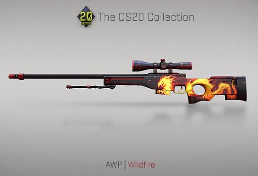 "Колекцията ""Counter-Strike 20"" — AWP | Опустошителен огън| Wildfire"