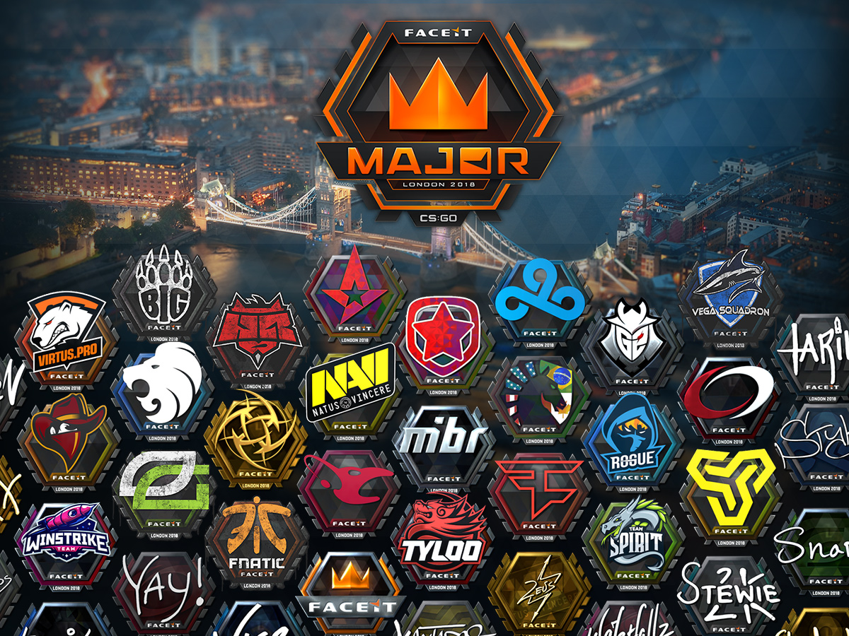 Стикери от FACEIT Major — London 2018