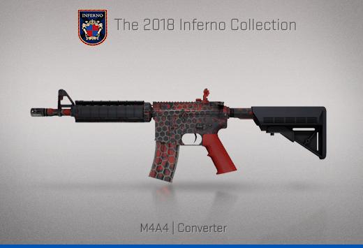 """Колекцията """"Inferno 2018"""" — M4A4   Преобразовател   Converter"""