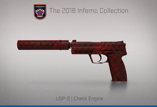 "Колекцията ""Inferno 2018"" — USP-S   Проверка на двигателя   Check Engine"