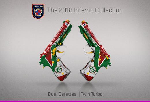 "Колекцията ""Inferno 2018"" — Dual Berettas   Турбо чифт   Twin Turbo"