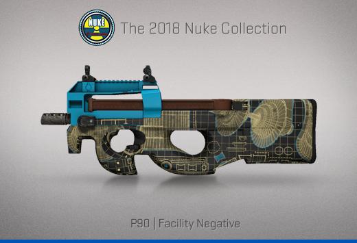 """Колекцията """"Nuke 2018"""" — P90   Негатив на съоръжение   Facility Negative"""