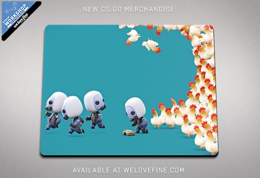 CS:GO подложка за мишка от Steam работилница за рекламни стоки и welovefine.com