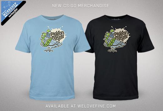 CS:GO тениски от Steam работилница за рекламни стоки и welovefine.com