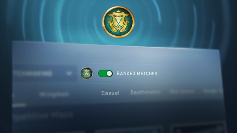 CS:GO менюто за търсене на мачове