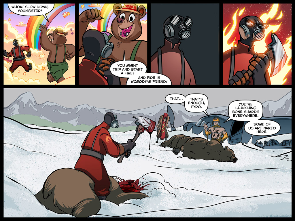 team fortress 2 meet the pyro russian bear