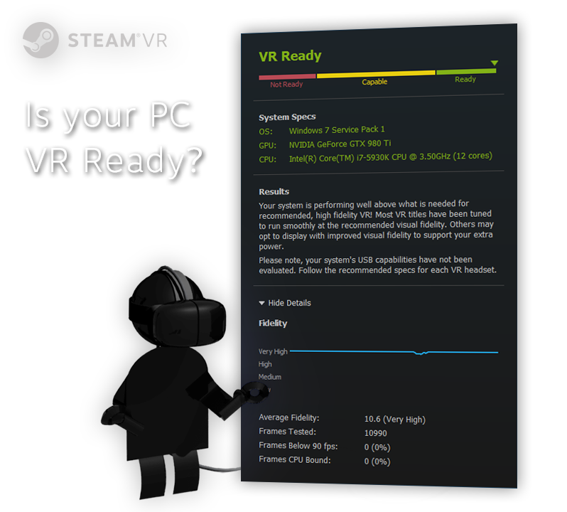 Feb 22, 2016 Take the SteamVR Performance Test SteamVR