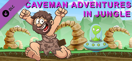 Caveman adventures in jungle for Run, chicken, run!