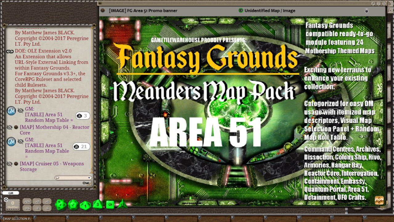 Fantasy Grounds - Meanders Map Pack: Area 51 (Map Pack)