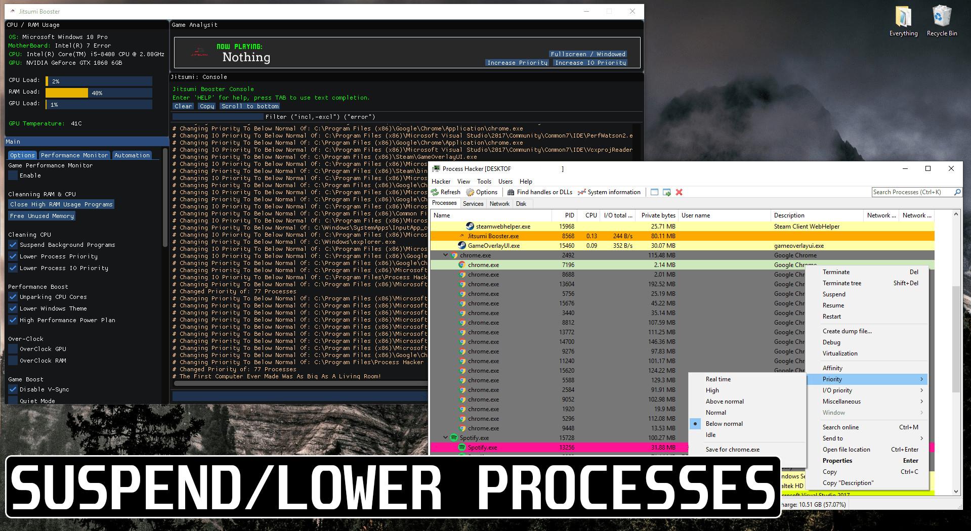 windows 10 high cpu usage in games