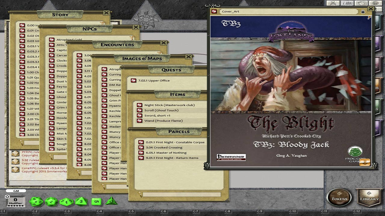 Fantasy Grounds - The Blight: Bloody Jack (PFRPG)
