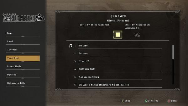 ONE PIECE World Seeker AniSong Pack (DLC)