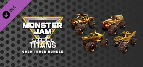 Monster Jam Steel Titans - Gold Truck Bundle
